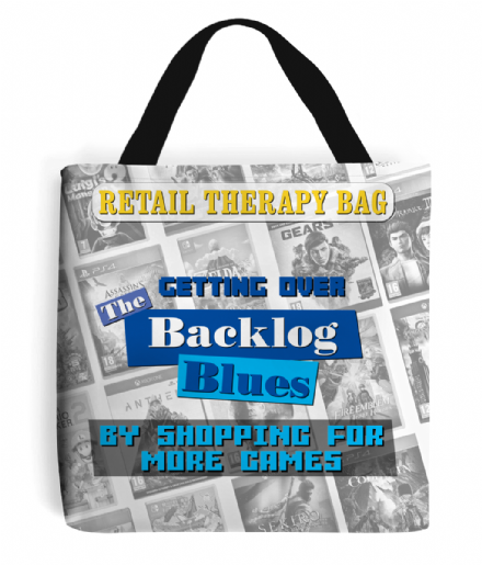 Gamers Backlog Blues Retail Therapy Printed Tote Shopping Bag